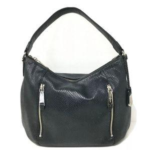 Cole Haan Handbag Black Snake Print Leather